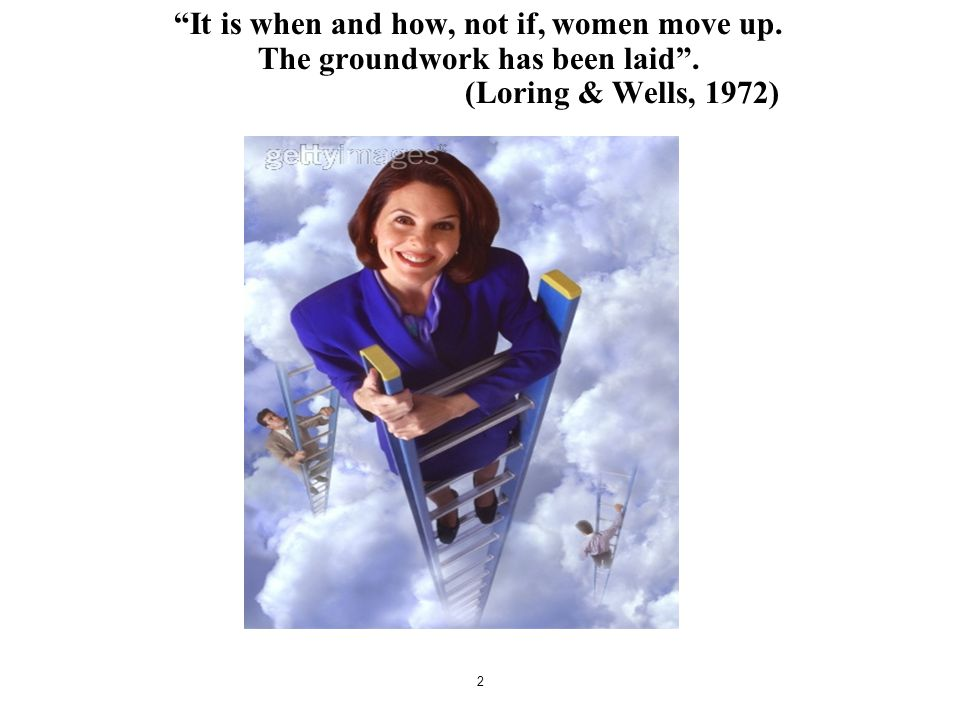 It is when and how, not if, women move up