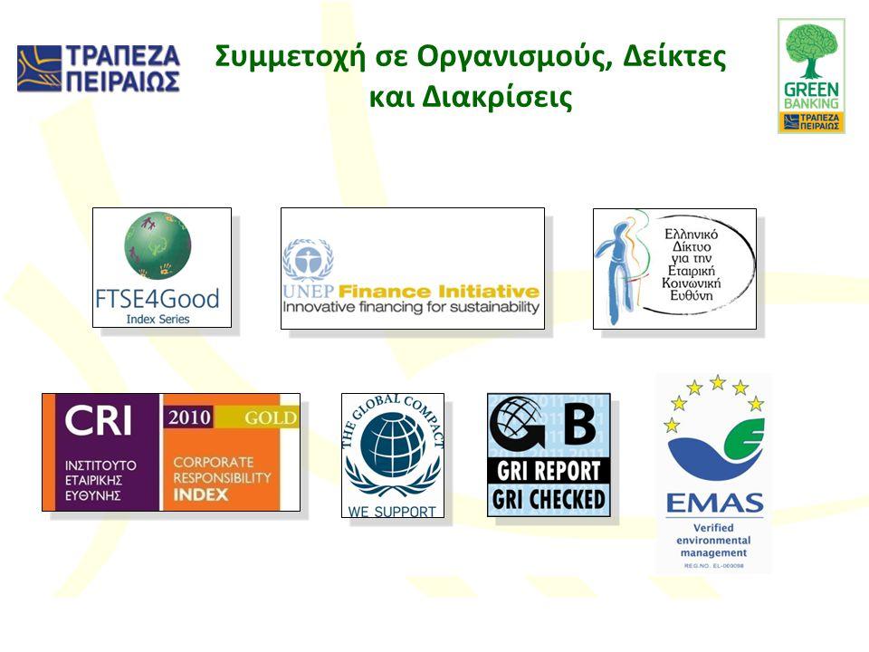 Συμμετοχή σε Οργανισμούς, Δείκτες και Διακρίσεις