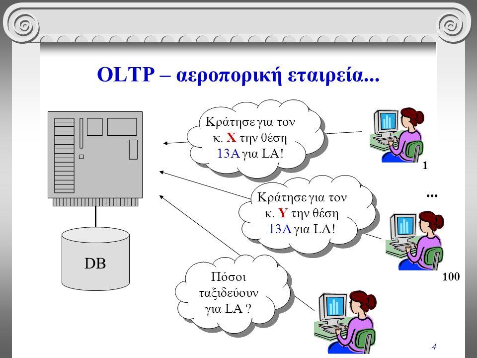 OLTP – αεροπορική εταιρεία...