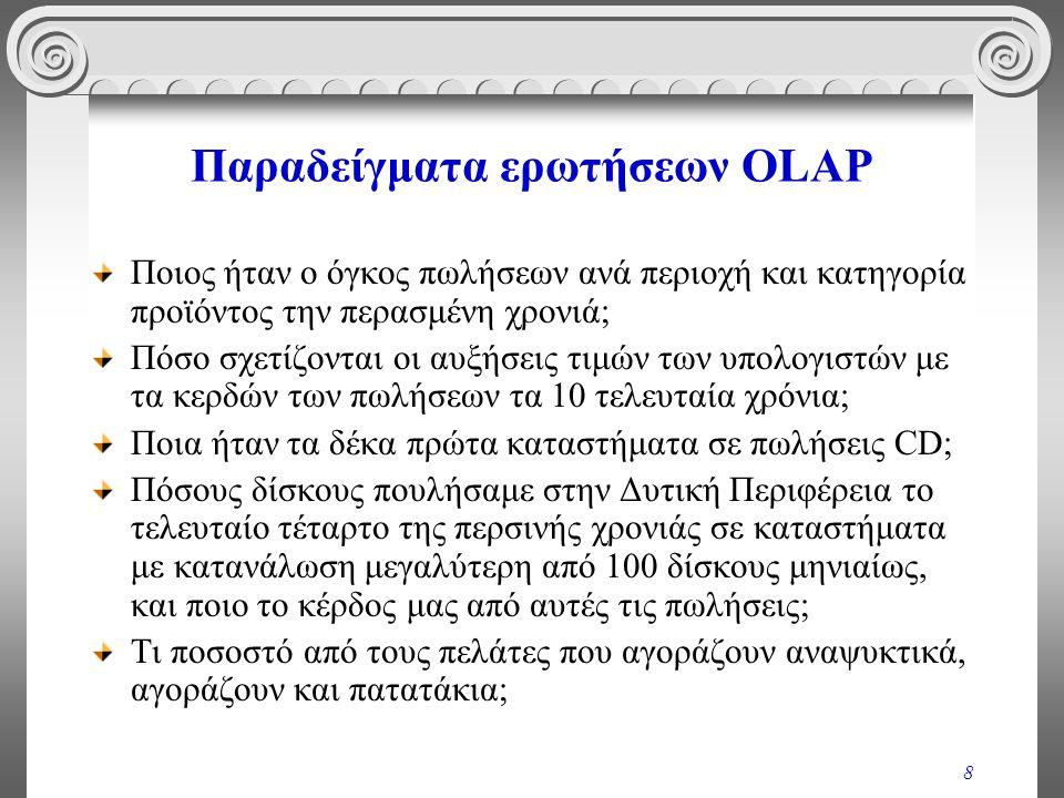 Παραδείγματα ερωτήσεων OLAP