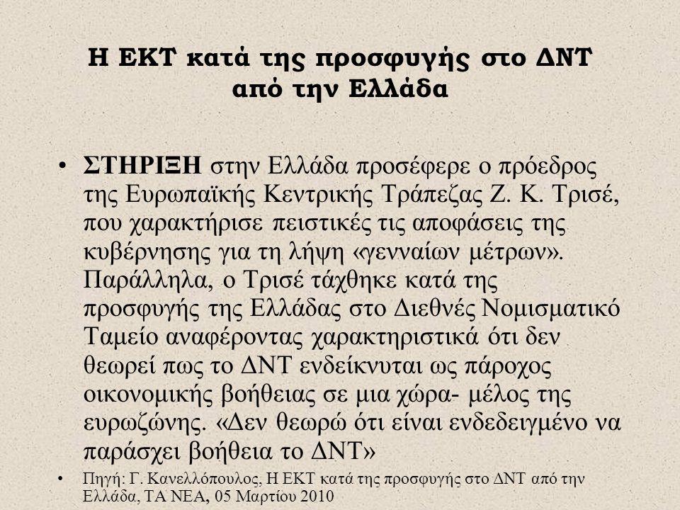 Η ΕΚΤ κατά της προσφυγής στο ΔΝΤ από την Ελλάδα