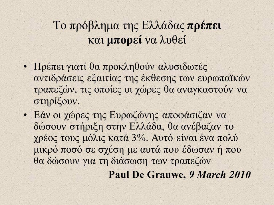 Το πρόβλημα της Ελλάδας πρέπει και μπορεί να λυθεί