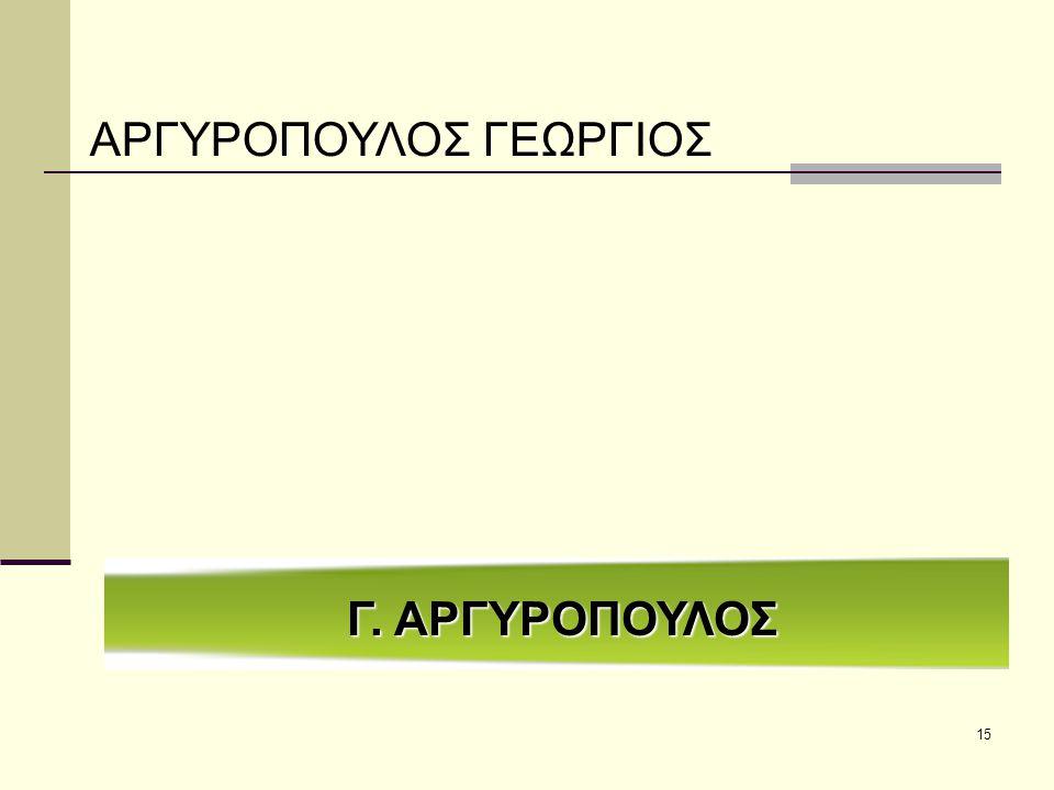 ΑΡΓΥΡΟΠΟΥΛΟΣ ΓΕΩΡΓΙΟΣ