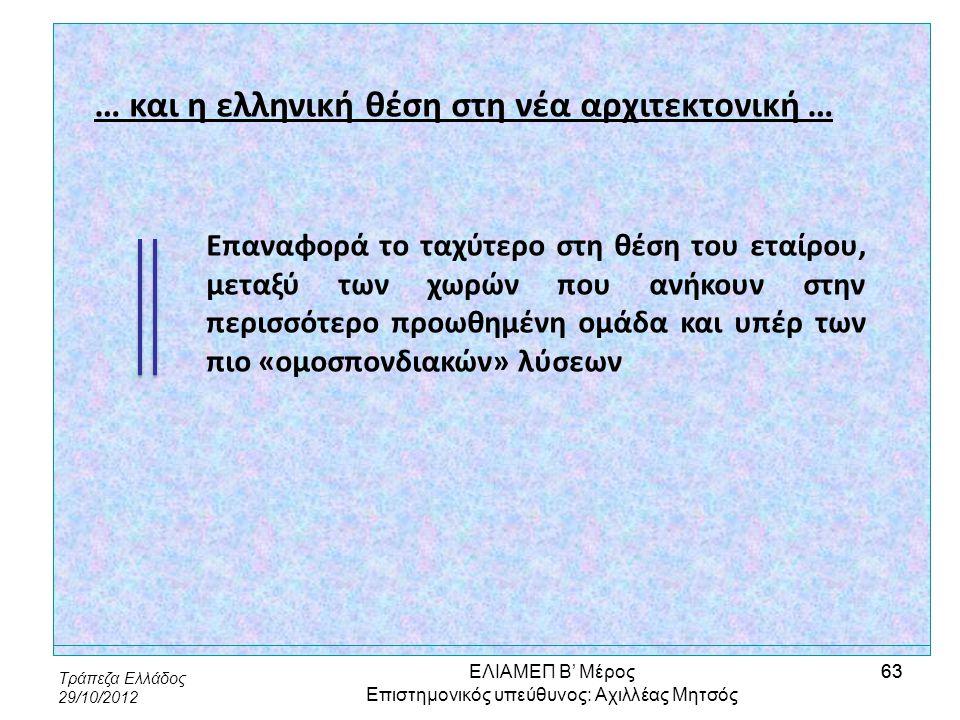 … και η ελληνική θέση στη νέα αρχιτεκτονική …