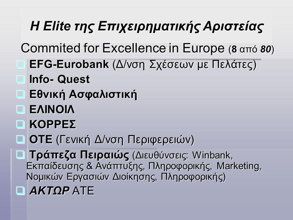 Η Elite της Επιχειρηματικής Αριστείας
