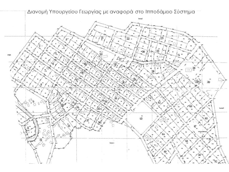 Διανομή Υπουργείου Γεωργίας με αναφορά στο Ιπποδάμειο Σύστημα