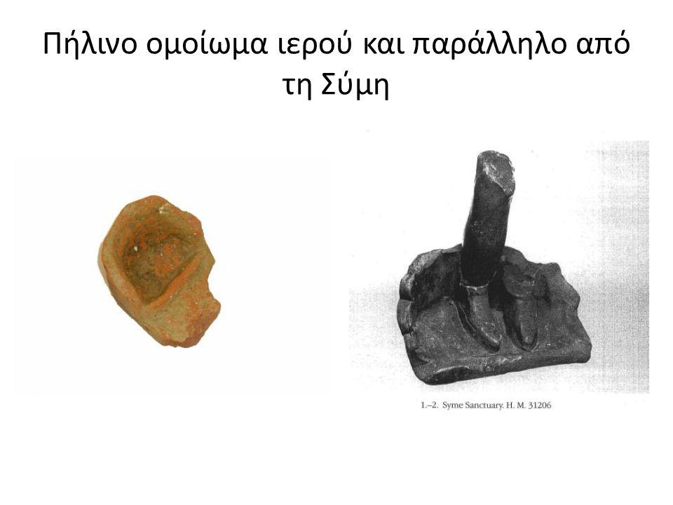 Πήλινο ομοίωμα ιερού και παράλληλο από τη Σύμη