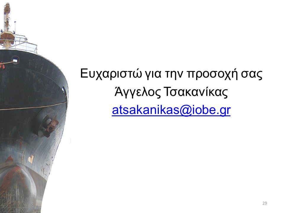 Ευχαριστώ για την προσοχή σας Άγγελος Τσακανίκας atsakanikas@iobe.gr