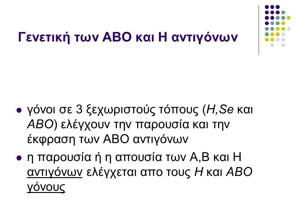 Γενετική των ΑΒO και Η αντιγόνων