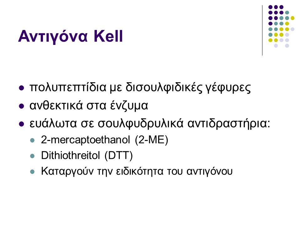Αντιγόνα Kell πολυπεπτίδια με δισουλφιδικές γέφυρες
