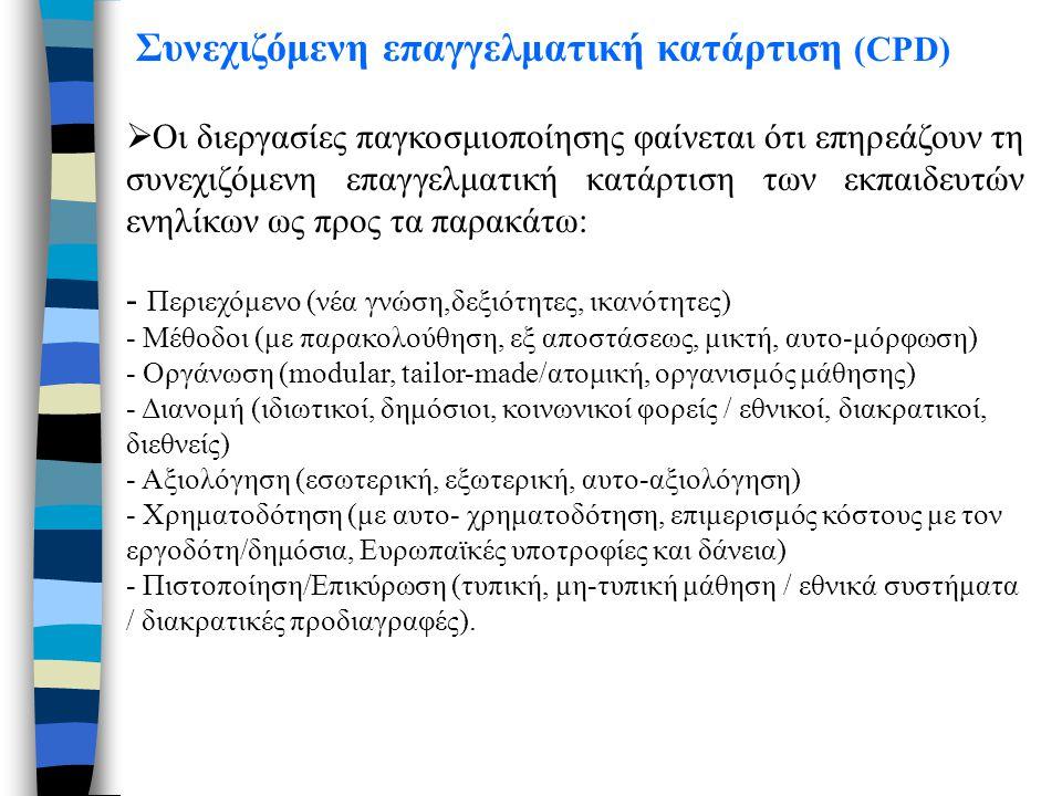 Συνεχιζόμενη επαγγελματική κατάρτιση (CPD)