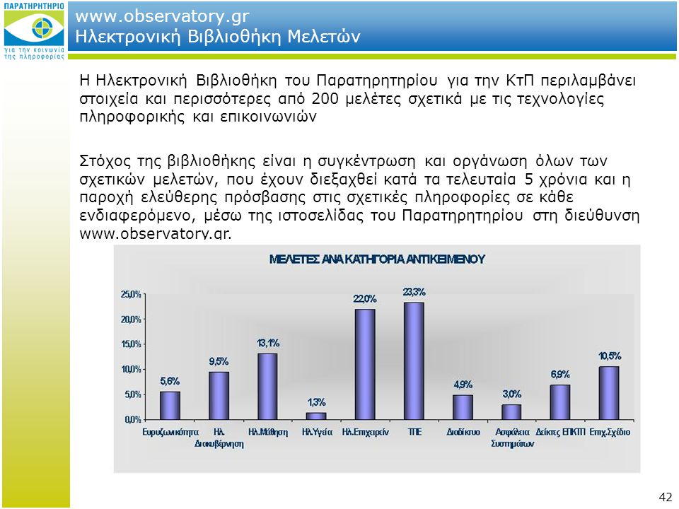 www.observatory.gr Ηλεκτρονική Βιβλιοθήκη Μελετών