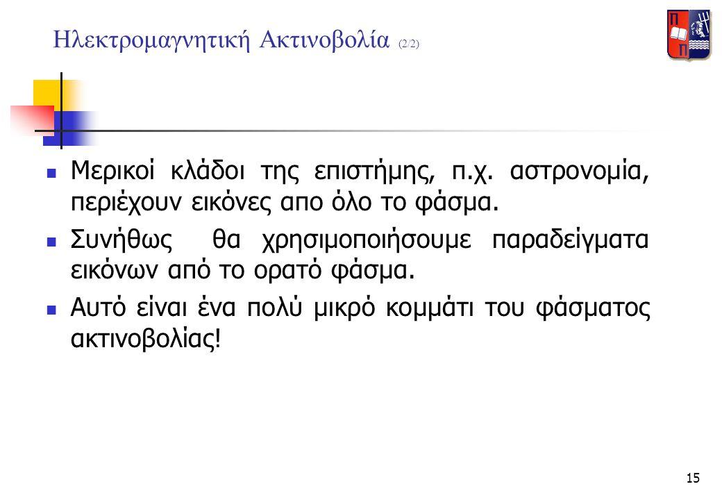 Ηλεκτρομαγνητική Ακτινοβολία (2/2)