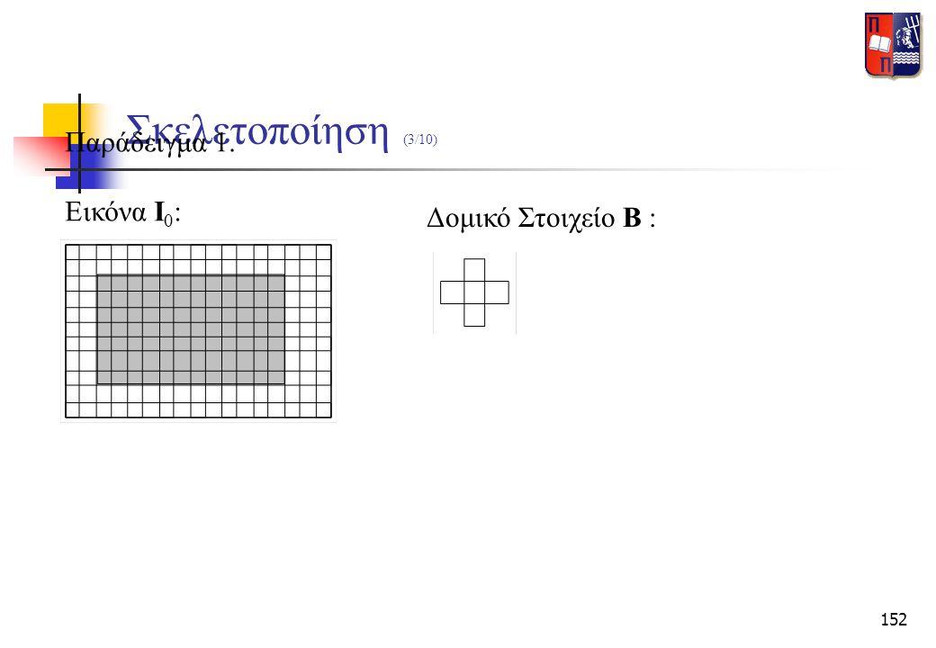 Σκελετοποίηση (3/10) Παράδειγμα 1. Εικόνα Ι0: Δομικό Στοιχείο Β :