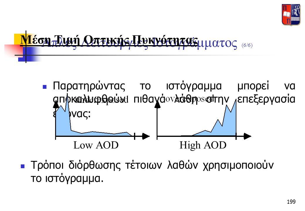 Απλές Λειτουργίες Ιστογράμματος (6/6)