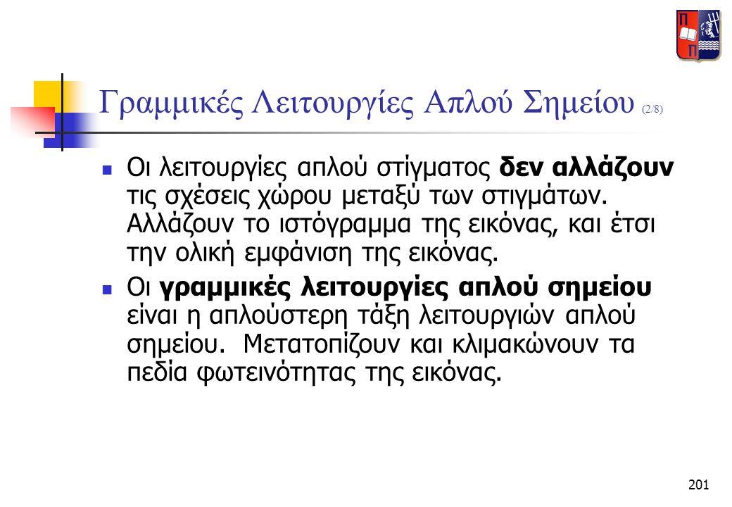 Γραμμικές Λειτουργίες Απλού Σημείου (2/8)