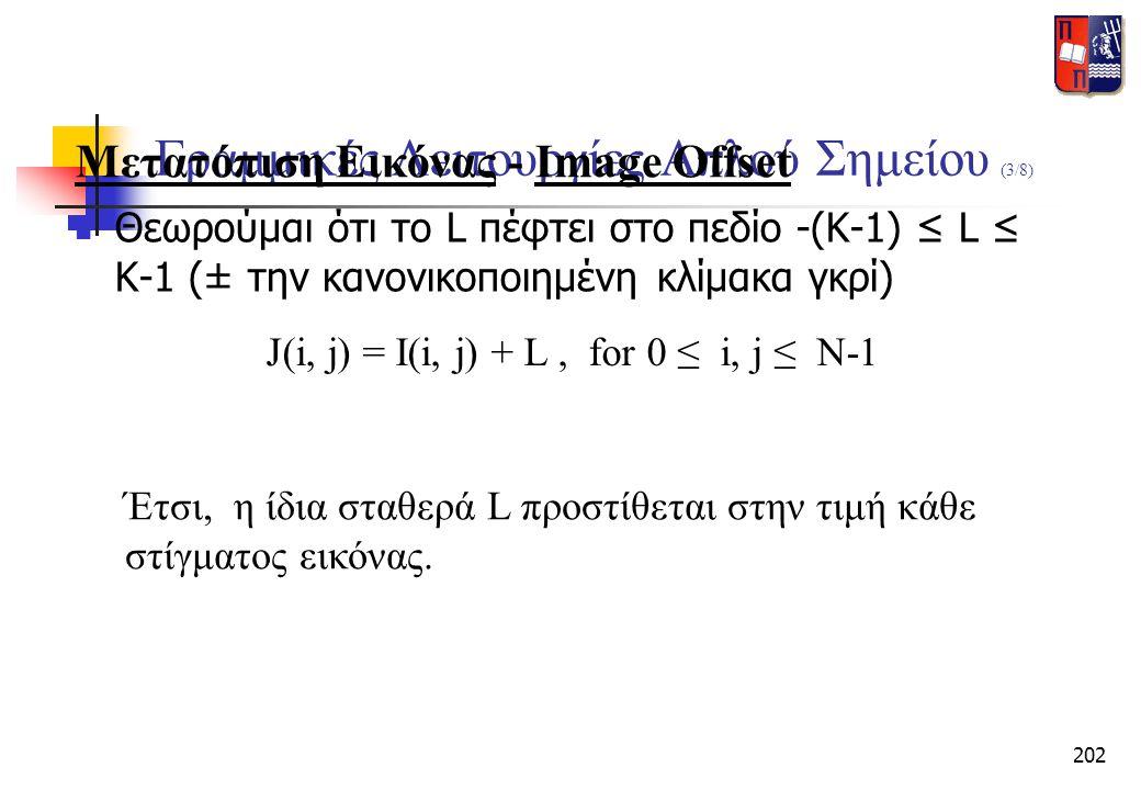 Γραμμικές Λειτουργίες Απλού Σημείου (3/8)