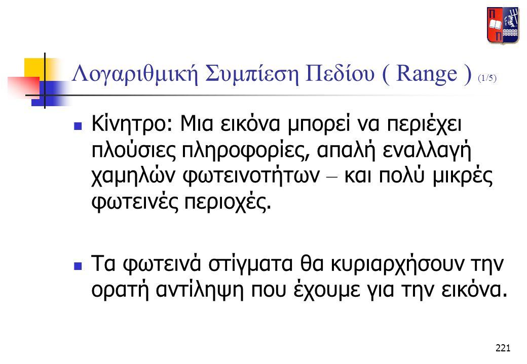 Λογαριθμική Συμπίεση Πεδίου ( Range ) (1/5)