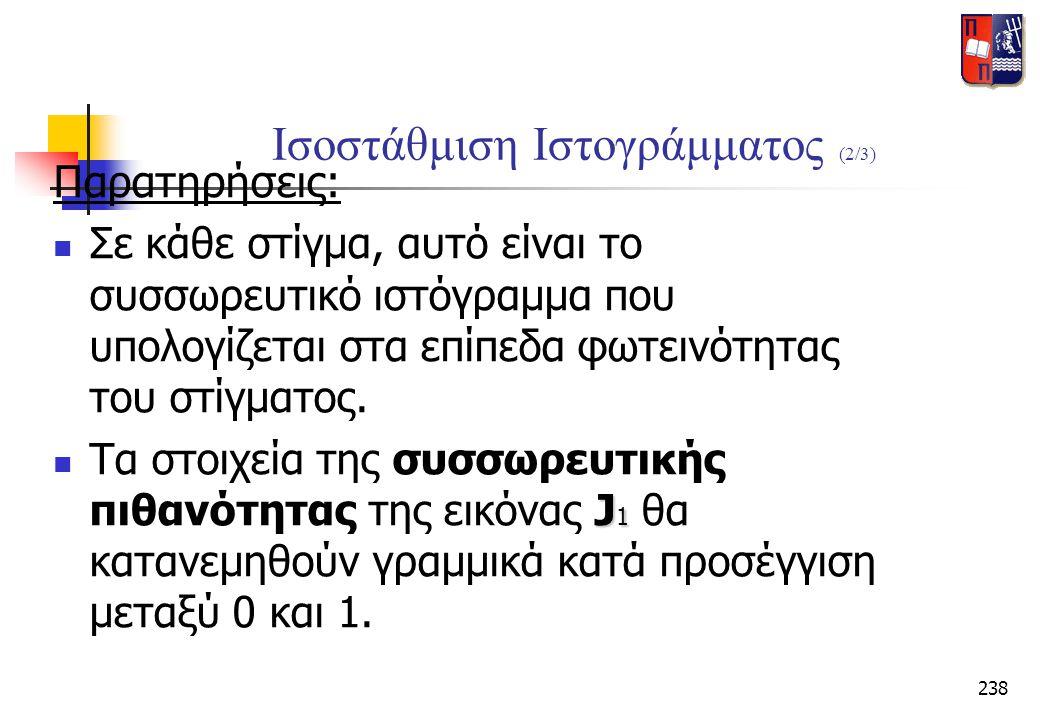 Ισοστάθμιση Ιστογράμματος (2/3)