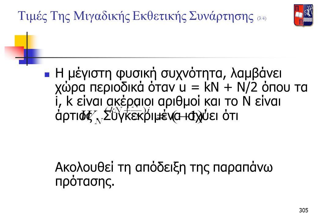 Τιμές Της Μιγαδικής Εκθετικής Συνάρτησης (3/4)
