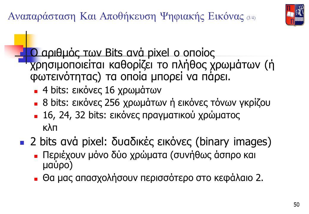 Αναπαράσταση Και Αποθήκευση Ψηφιακής Εικόνας (3/4)