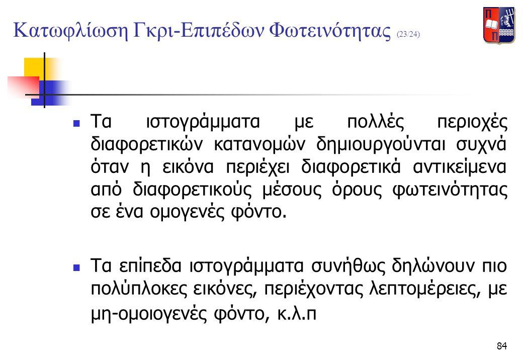 Κατωφλίωση Γκρι-Επιπέδων Φωτεινότητας (23/24)