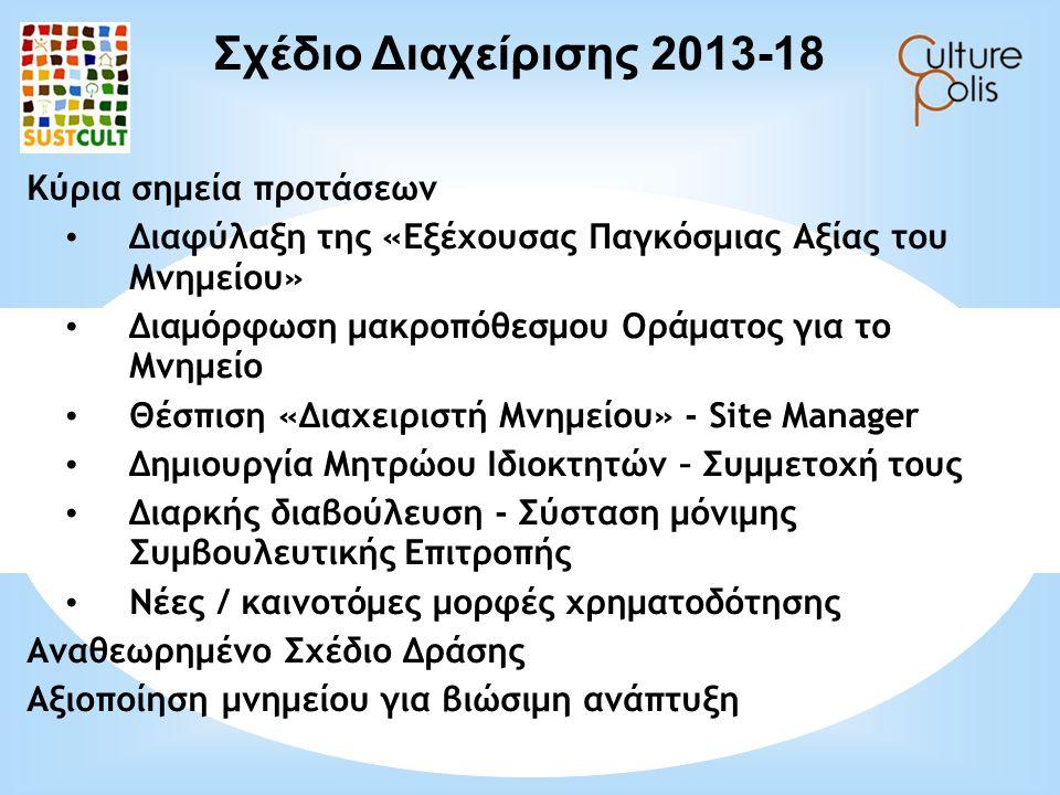 Σχέδιο Διαχείρισης 2013-18 Κύρια σημεία προτάσεων