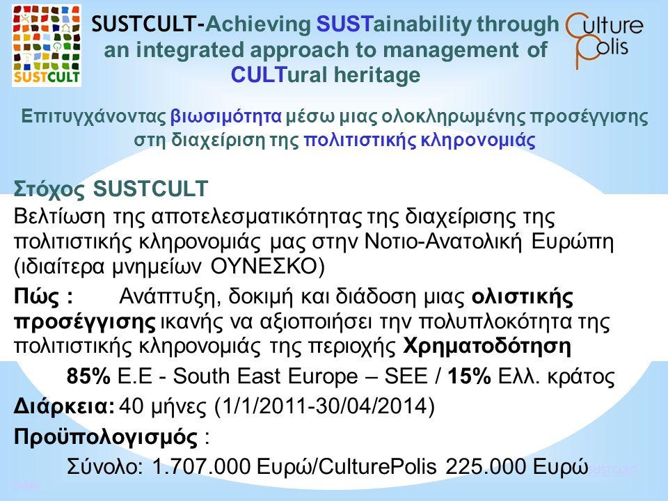 85% Ε.Ε - South East Europe – SEE / 15% Ελλ. κράτος