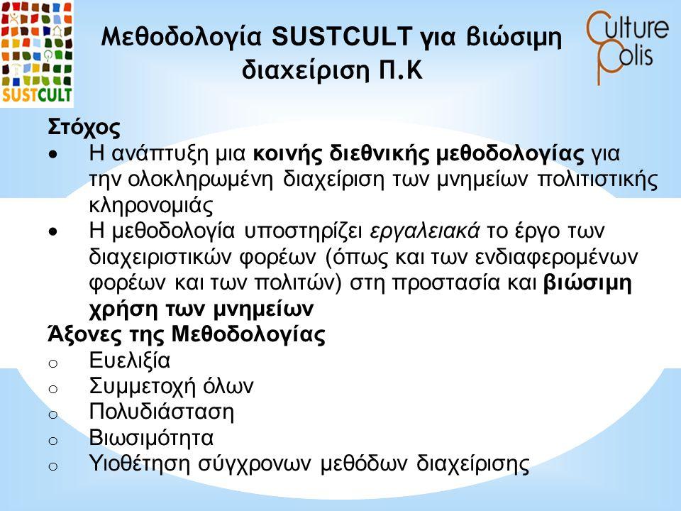 Μεθοδολογία SUSTCULT για βιώσιμη διαχείριση Π.Κ