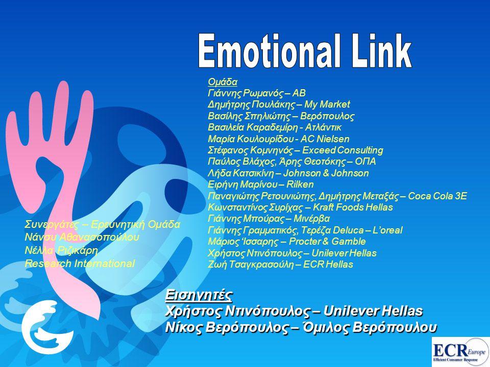 Emotional Link Εισηγητές Χρήστος Ντινόπουλος – Unilever Hellas