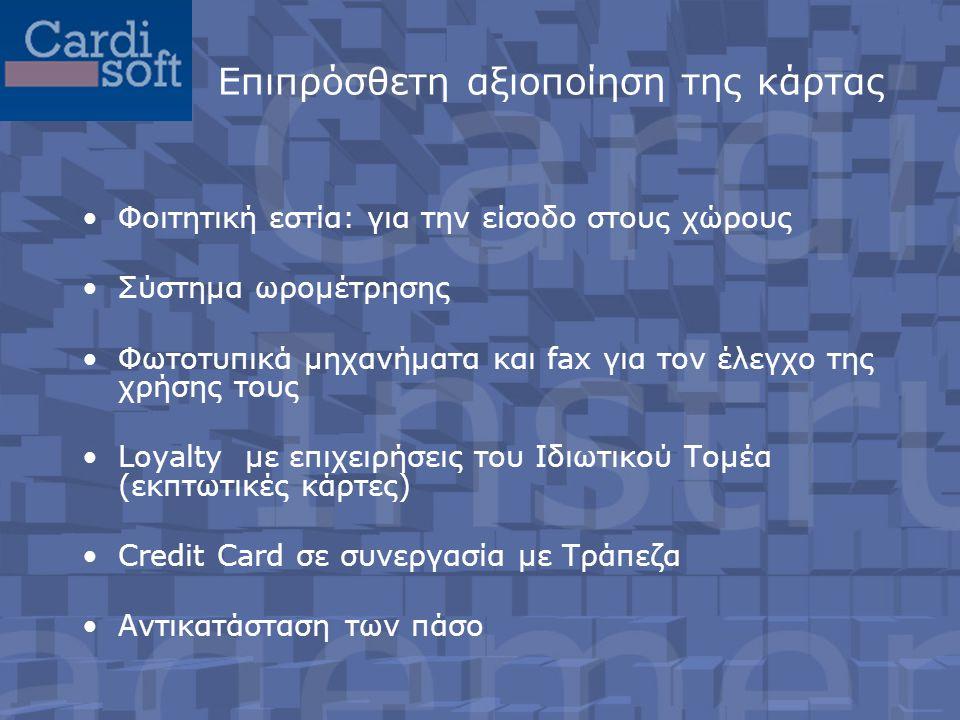 Επιπρόσθετη αξιοποίηση της κάρτας