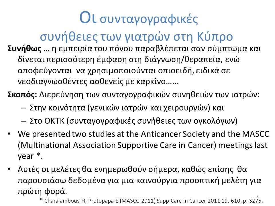 Οι συνταγογραφικές συνήθειες των γιατρών στη Κύπρο