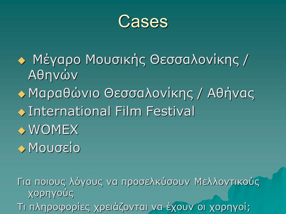 Cases Μέγαρο Μουσικής Θεσσαλονίκης / Αθηνών