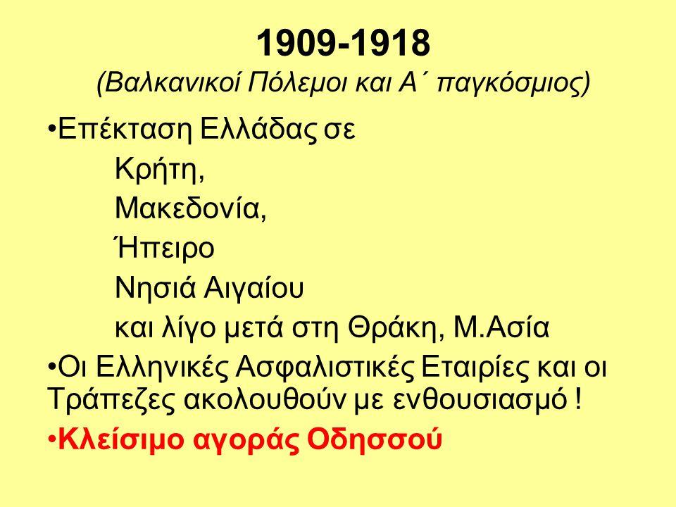 1909-1918 (Βαλκανικοί Πόλεμοι και Α΄ παγκόσμιος)