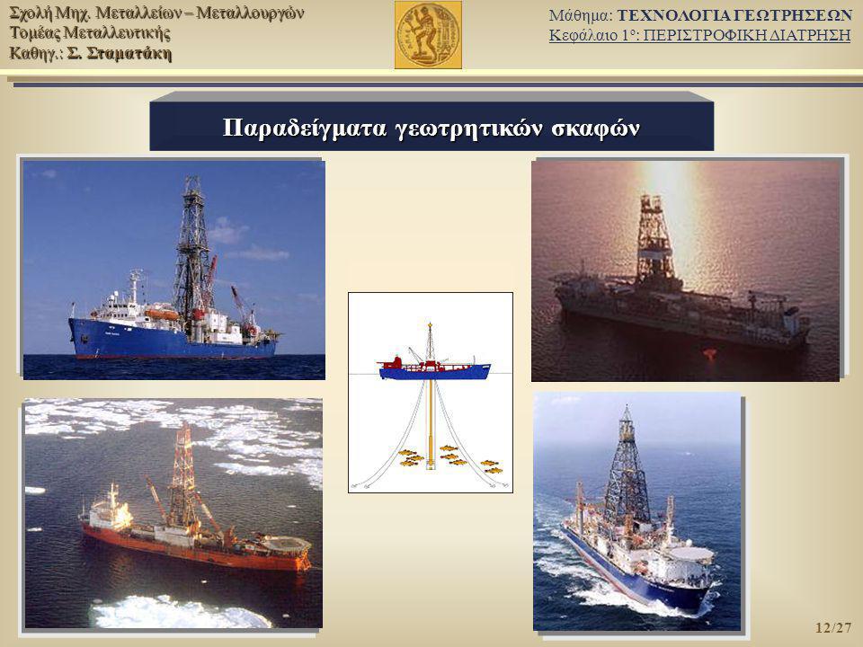 Παραδείγματα γεωτρητικών σκαφών