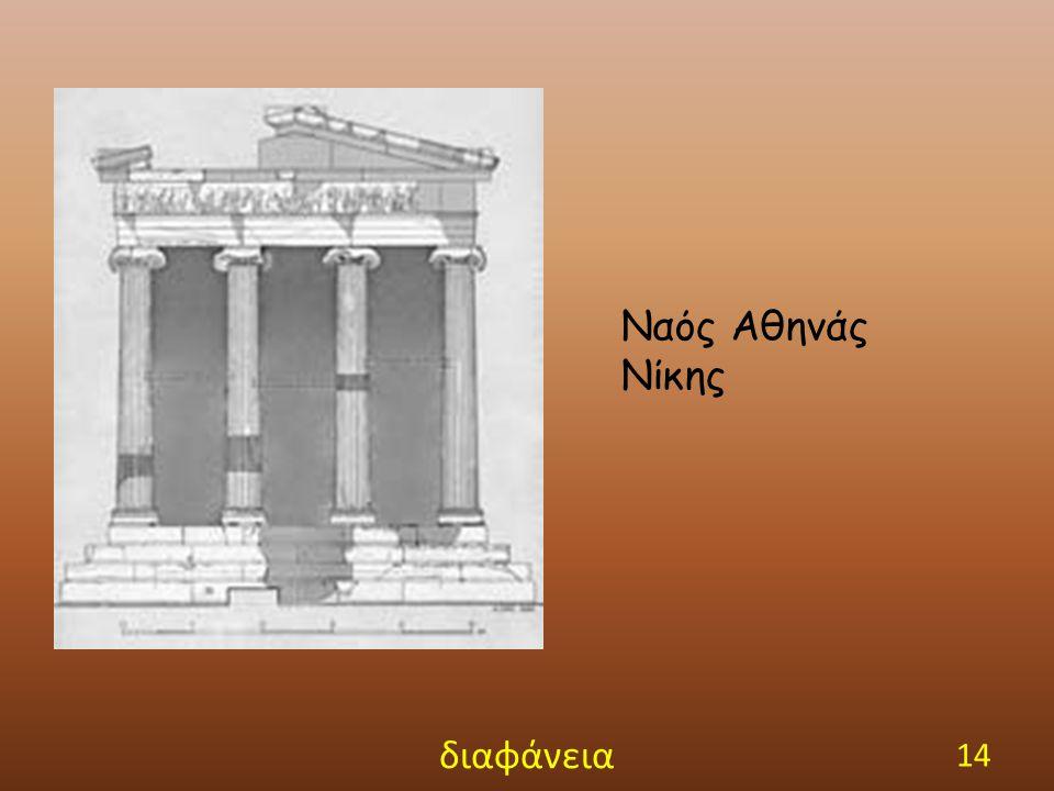 Ναός Αθηνάς Νίκης διαφάνεια