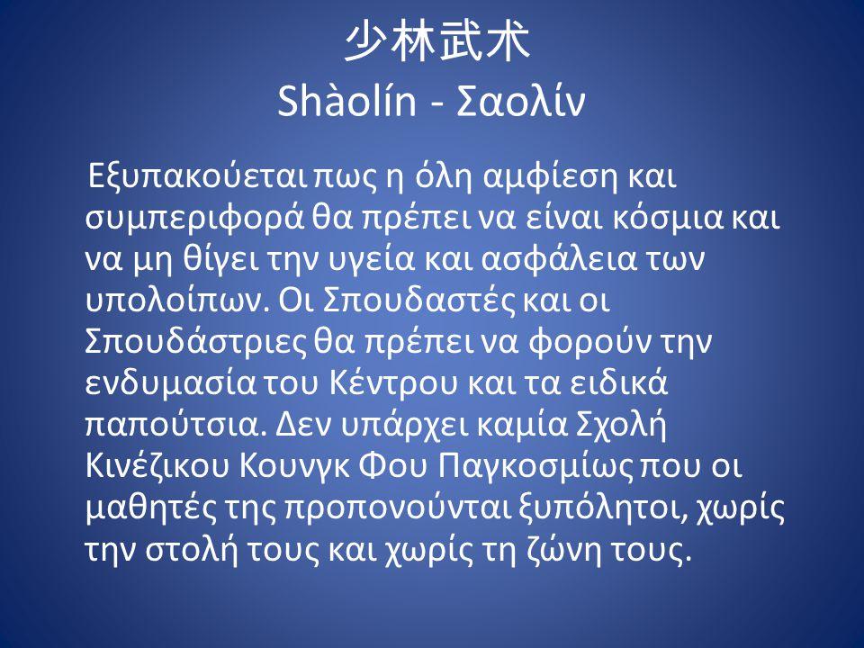 少林武术 Shàolín - Σαολίν