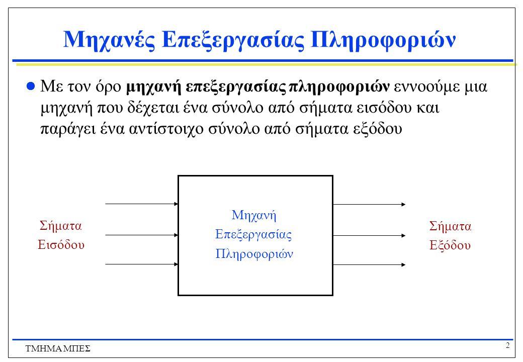 Μηχανές Επεξεργασίας Πληροφοριών