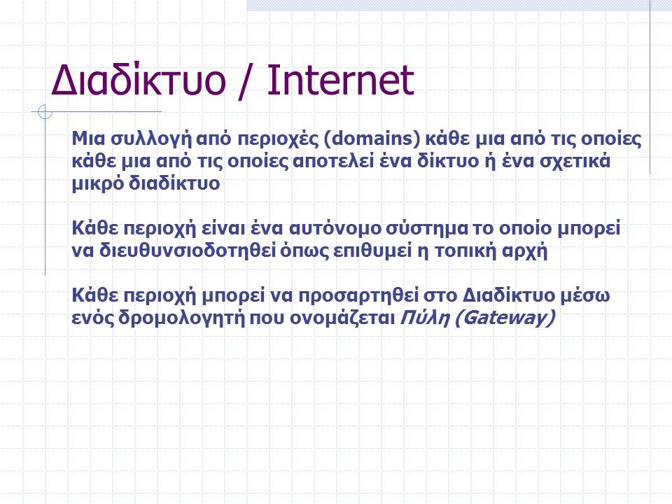 Διαδίκτυο / Internet