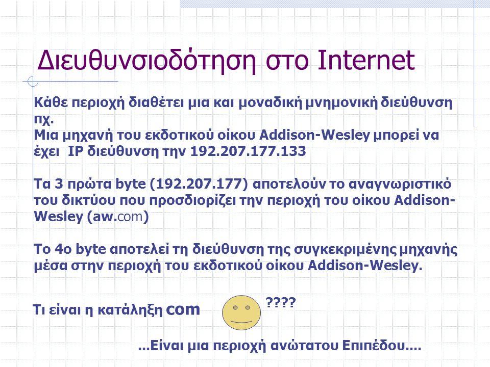 Διευθυνσιοδότηση στο Internet