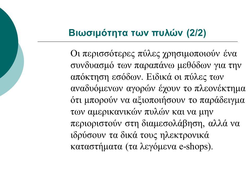 Βιωσιμότητα των πυλών (2/2)