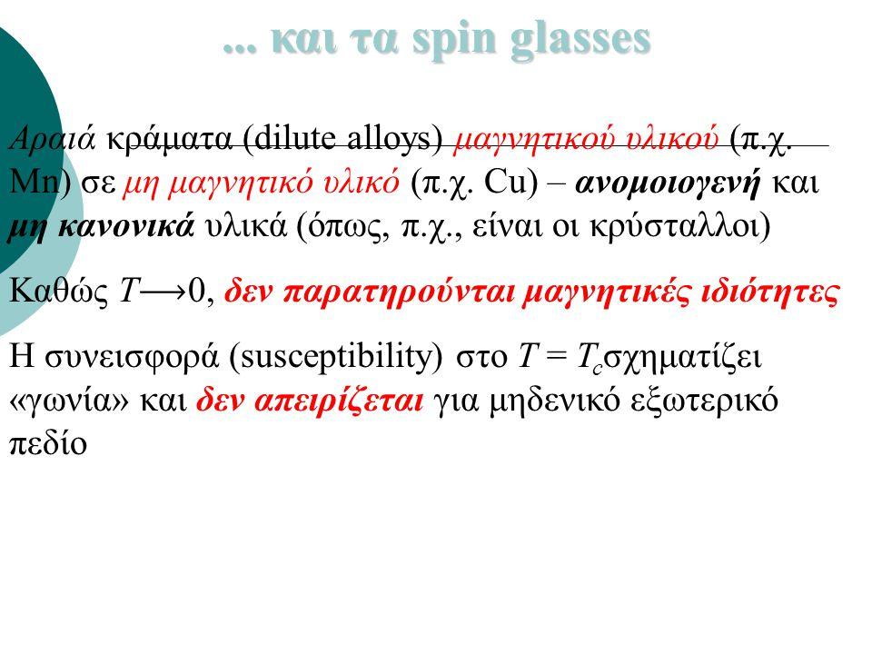 ... και τα spin glasses