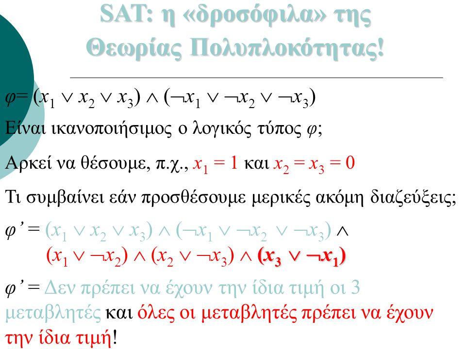 Θεωρίας Πολυπλοκότητας!