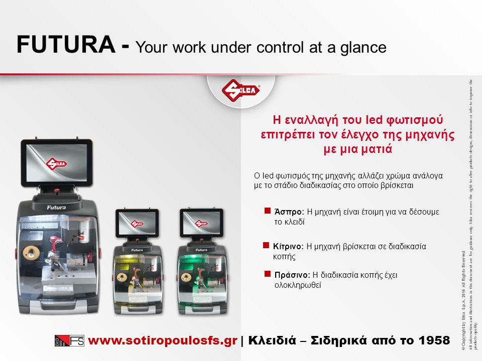FUTURA - Your work under control at a glance
