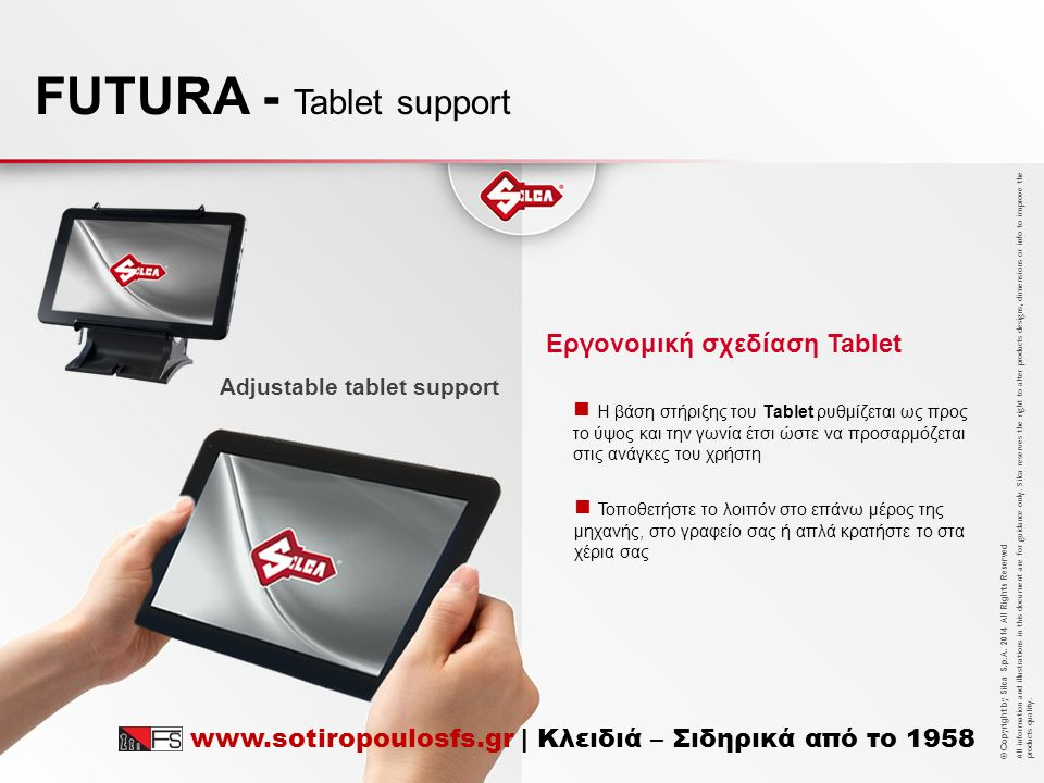 FUTURA - Tablet support