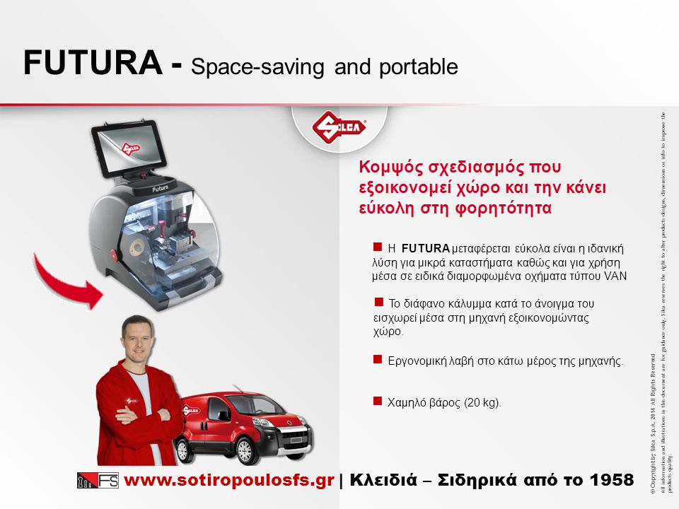 FUTURA - Space-saving and portable