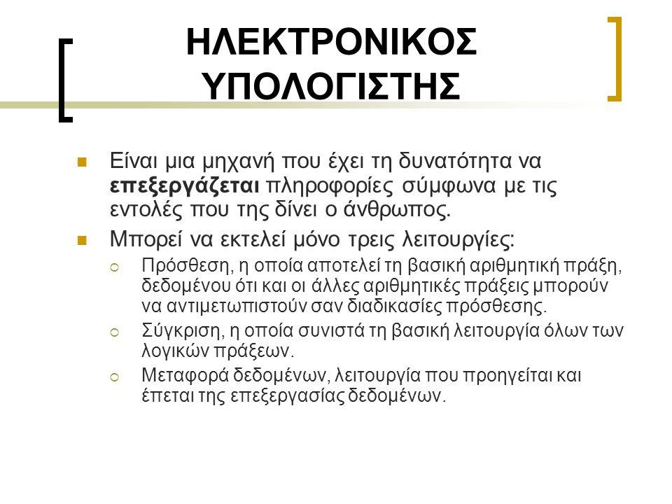 ΗΛΕΚΤΡΟΝΙΚΟΣ ΥΠΟΛΟΓΙΣΤΗΣ