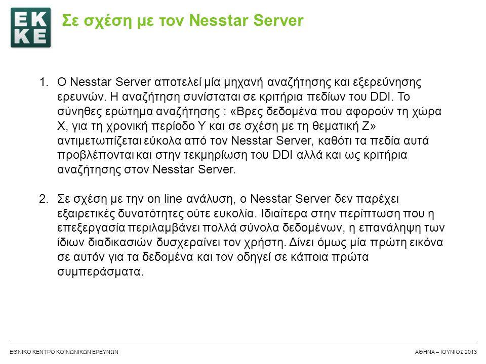 Σε σχέση με τον Nesstar Server
