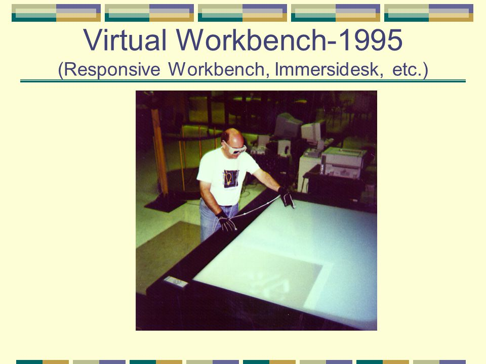 Virtual Workbench-1995 (Responsive Workbench, Immersidesk, etc.)