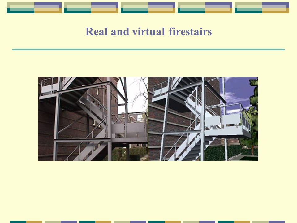 Real and virtual firestairs